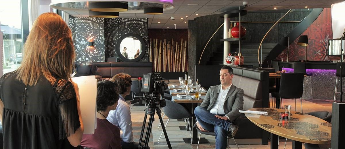 Shooting a Reference Movie at SmartHOTEL, Mainport Rotterdam with Microsoft