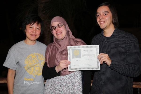 Hibbah & Jassin with Nancy Huang from Expedia