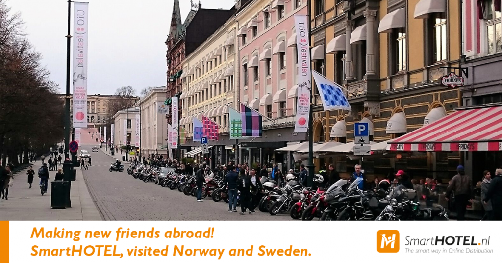 Making new friends abroad! SmartHOTEL, visited Norway and Sweden.