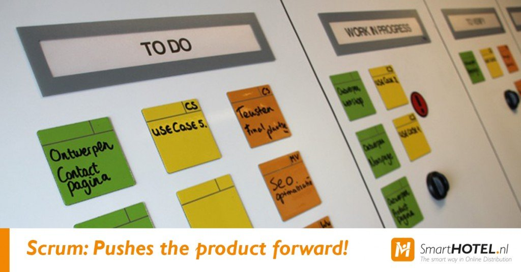 scrum pushes the product forward